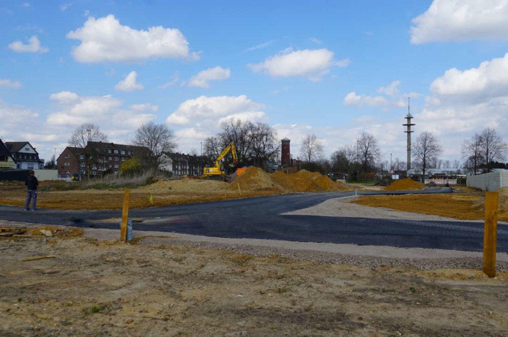 Grundstücksentwicklung, Baustraße, Bauträger-Projekt Grevenbroich