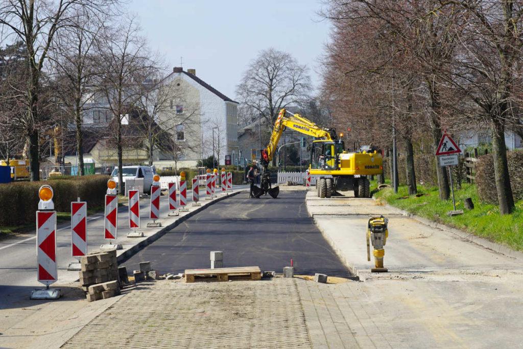 Grundstückserschließung, Straßenbau