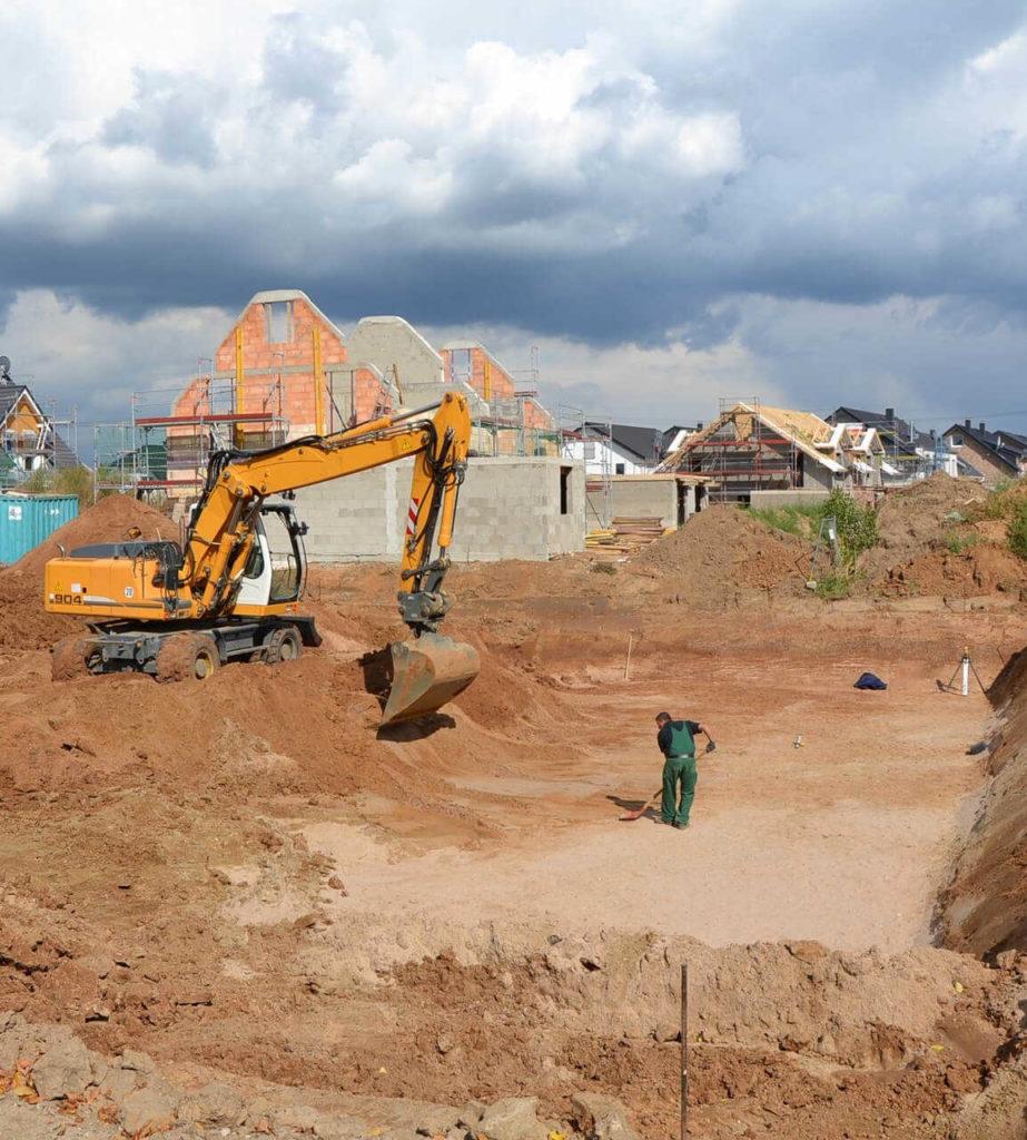Grundstücksentwicklung Neubau Bauprojekt