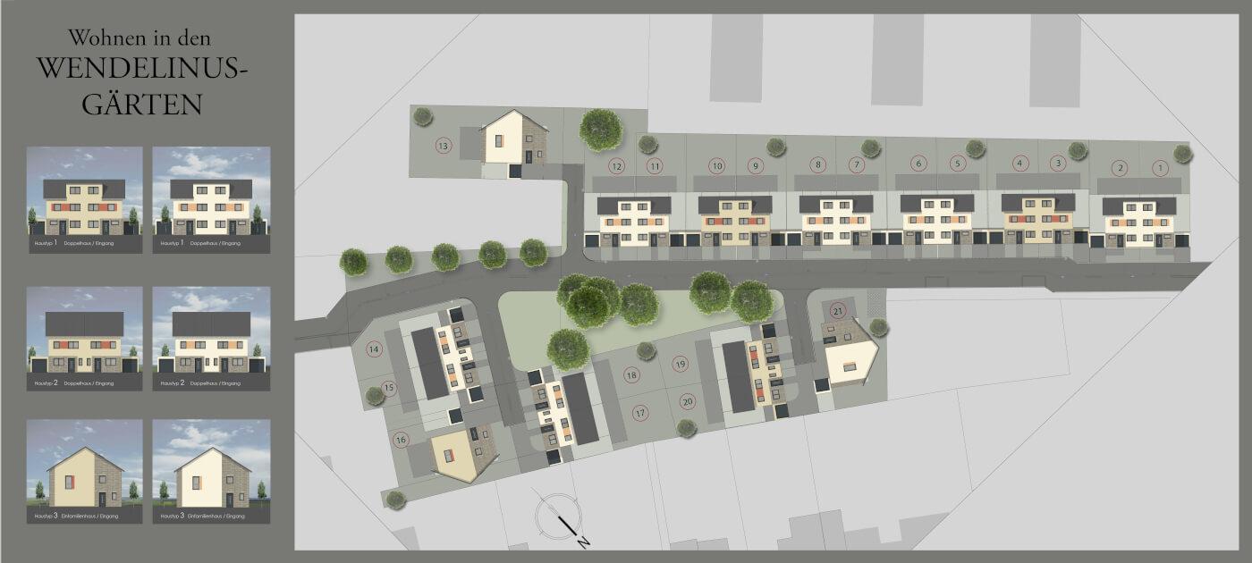 Lageplan Bauträgerprojekt Hürth bei Köln